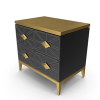 John Richard Andrial Art Deco Nightstand PNG & PSD Images