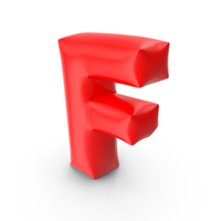Balloon Letter F PNG & PSD Images