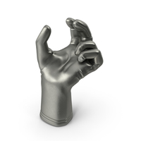 Glove Metallic Upwards Object Hold Pose PNG & PSD Images
