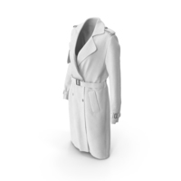 Women's Coat White PNG & PSD Images