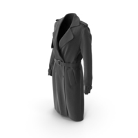 Women's Coat Black PNG & PSD Images