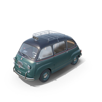 Fiat 600 Multipla Taxi 1957 PNG & PSD Images