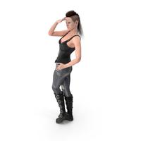 Rock Woman Posing PNG & PSD Images