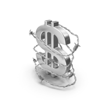 Dollar Steel in Barbed Wire PNG & PSD Images