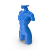 A Blue Mannequin PNG & PSD Images