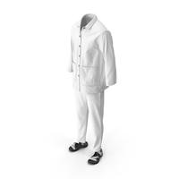 Men's Shirt Sandals Pants White PNG & PSD Images