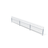 Wooden Fence Painted in White Color PNG & PSD Images