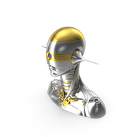Female Robot Head PNG & PSD Images