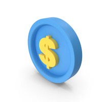 Money Icon Blue and Yellow PNG & PSD Images