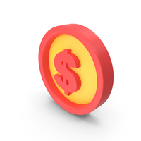 Money Icon Red and Yellow PNG & PSD Images