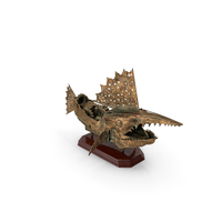Ship Statuette Steampunk PNG & PSD Images