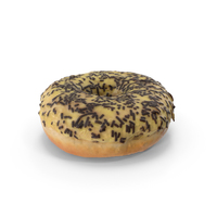 Chocolate Frosting Banana Donut PNG & PSD Images
