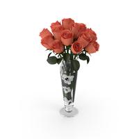 Orange Roses In Vase PNG & PSD Images