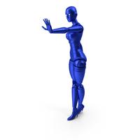 Blue Robot Woman PNG & PSD Images