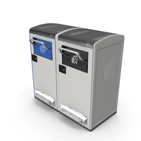 General Waste and Recycling Station Generic PNG & PSD Images