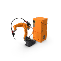 Generic Welding Robot with Power Supply PNG & PSD Images