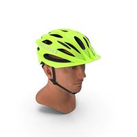 Giro Revel Helmet on Male Head PNG & PSD Images