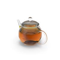 Glass Teapot with Tea PNG & PSD Images