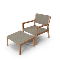 Maze Lounge Chair Footstool PNG & PSD Images