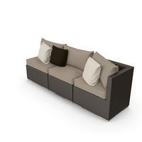 Rattan Lounge Outdoor Furniture PNG & PSD Images