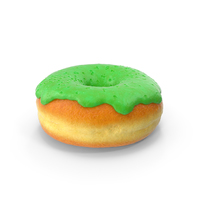 Green Donut PNG & PSD Images