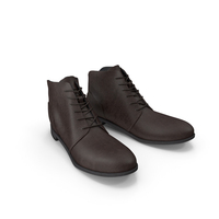 Leather Work Boots PNG & PSD Images
