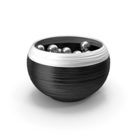 Black and Silver Vase PNG & PSD Images