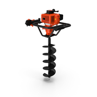 Hole Digger Gasoline Auger Drill PNG & PSD Images