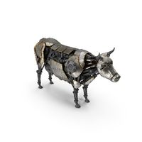 Cow Steampunk Robot PNG & PSD Images