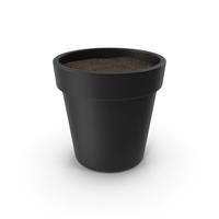 Black Plant Pot With Soil PNG & PSD Images