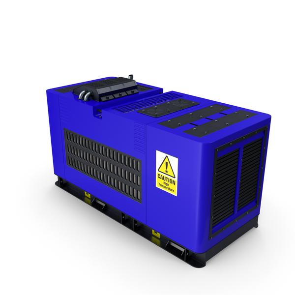 Diesel Generator Blue PNG & PSD Images