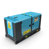 Power Generator Sky Blue PNG & PSD Images