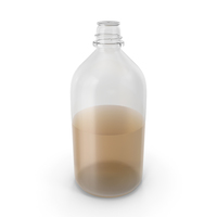 Laboratory Bottle Large With Ethanol PNG & PSD Images