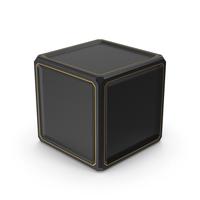 SciFi Cube Gold Black PNG & PSD Images