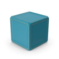 SciFi Cube Gold Blue PNG & PSD Images