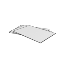 3 White Sheets PNG & PSD Images