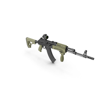 Assault Rifle AK 74 Tuning PNG & PSD Images
