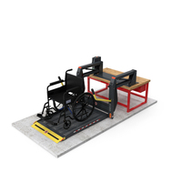 Hydraulic Lift with Wheelchair PNG & PSD Images
