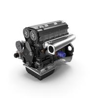 Inline 6 Cylinder Car Engine PNG & PSD Images