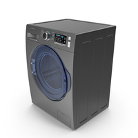 Inox Samsung WW6800 Washing Machine PNG & PSD Images