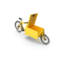 Cargo Bike with Metal Box Open Hatch PNG & PSD Images
