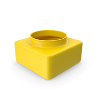 Decorative Container Yellow PNG & PSD Images