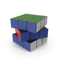 Colored Puzzle Cubes PNG & PSD Images