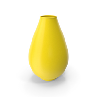 Decorative Vase Yellow PNG & PSD Images