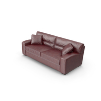 Panther Brown Leather Sofa PNG & PSD Images