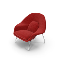 Womb Chair Red By Knoll PNG & PSD Images