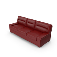 Casino Red Leather Sofa PNG & PSD Images