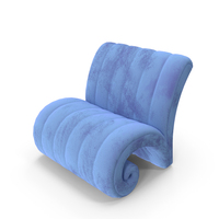 Blue Fabric Armchair PNG & PSD Images