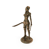 Woman Steampunk Statue PNG & PSD Images