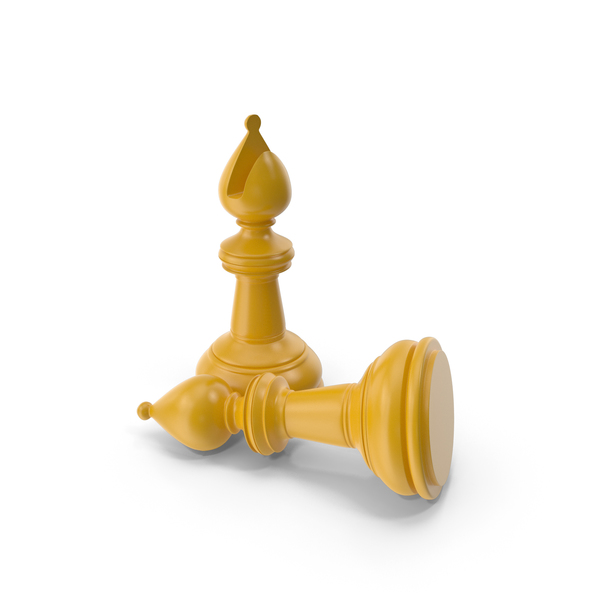Chess Bishop Yellow PNG & PSD Images